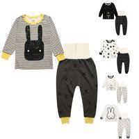 baby pyjama pants - Baby Clothes Baby Boys Girls Clothes Set Kids Pajamas Baby Leggings Cotton Kids Legging Pants Cartoon Pyjamas Winter Kids Clothing Set