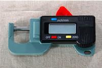 Wholesale 0 x25x25x0 mm Digital Thickness Gauge mm Mini Dial Thickness Gauges Caliper Meter Horizontal Type Width Measure Tools