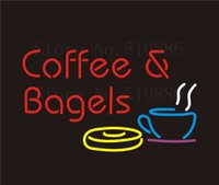 bagel shop - Custom NEON Sign Board Coffee Bagels Espresso GLlass Tube Bar Club Pub Display Store Shop Light Signboard Signage Signs quot