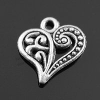 Wholesale 120pcs mm colors antique bronze antique gold Antique Silver Plated Heart Charms