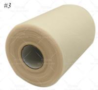 Hot Sell Tulle Rouleau de bobine 6inchx100yd Tutu mariage cadeau Bow Craft nuptiale Tissu pour décorations de mariage