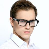 Wholesale Retro Square Men Eyeglasses Frame Brand Designer Optical Glasses Frame With Logo And Box Prescription Clear Lens GLasses reading Men