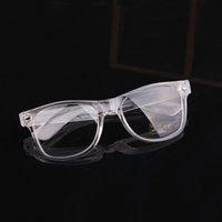 Wholesale Retail Plain Rivet Glasses Transparent Frame General Fashion Glasses For Men Women