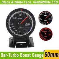 Wholesale mm Car Bar Turbo Boost Gauge Meter D fi Gauge mm advance Cr Car Boost Meter Sensor Auto Car Turbo Boost Pressure Turbo Meter
