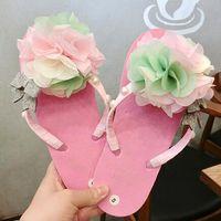 Precio de Sandalias de perlas flores-Recorrido de la manera de las mujeres del verano de la playa del tirón diseñador de la marca zapatillas sandalias perla de la flor del jardín Flops Inicio zapatos antideslizantes nave de DHL S1092