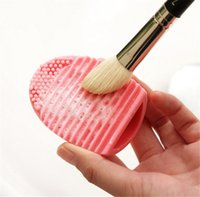 Wholesale 10 Colors Makeup Brush Cleaner Finger Silicone Glove Cosmetic Cleaning Tool Washing Brush Gel Cleaner Brushegg Tools Accessories