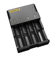 Wholesale Nitecore I4 Digicharger LCD Display Battery Charger Universal Nitecore i4 Charger Original VS Nitecore i2 D2 D4 UM10 UM20