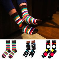 designer socks - Autumn Winter Men s Fashion Cotton socks Korean Edition Personalized Creative Trendy Fashion Hip Designer Dress Sock