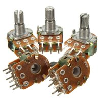 Wholesale High Quality A B50K ohm6 Pins Split Shaft Rotary Linear Dual Taper Potentiometers New New Arrival