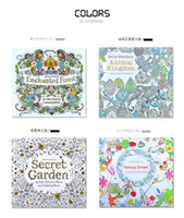 Wholesale Kids Coloring Books Designs Secret Garden Animal Kingdom Fantasy Dream and Enchanted Forest Pages Kids Adult Painting Colouring Books