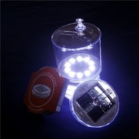 Wholesale 10 led waterproof portable inflatable solar light camping lights solar lamp outdoor picnic
