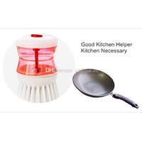 Wholesale Kitchen Wash Tool Pot Pan Dish Bowl Palm Brush Scrubber Cleaning Cleaner E00351 FSH