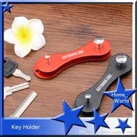 Wholesale Hot Smart Key Holder Organizer High Quality Key Holder Metallic Aviation Aluminum Key Wallet Outdoor EDC Outdoor Key Wallets