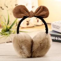Wholesale Winter Ear Covers For Women Warm Fur Earmuffs Girl s Earlap Ultralarge Rabbit Hair Earflap Ladie s Cute Eartab Plush Ears Muffs