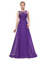 Wholesale Grace Karin Evening Dresses Long Purple Red Black Formal long sleeve Evening Gowns Party Prom Dresses Mother of the Bride Dresses