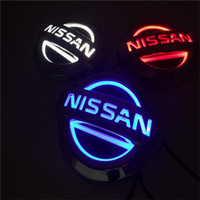 Wholesale 5D led car logo light for Nissan X9 cm badge LED lamp Auto led laser lights rear emblem sticker car ghost shadow light