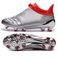 best messi - 2016 latest Ace X Pure Chaos FG Messi football boots Silver black leather Men s Top soccer shoes best soccer cleats