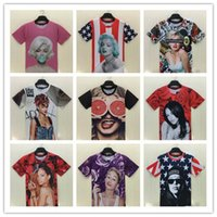 bad t shirts - Sexy style Women men s bad gril D T shirts Marilyn Monroe chain tattoo short sleeve Lesbian t shirt for men and women BY DHL