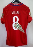 badge shorts - 2016 chile home fan version jersey vidal number copa america badges available top quality