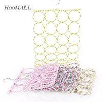 Wholesale Multifunction Folding Scarf Wraps Shawl Storage Hanger Layers Lattices Wardrobe Organizer Hooks Storage Racks Random Color
