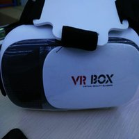 Wholesale 2016 Vr Box Gamepad Virtual Reality d Glasses Helmet Vr Box Headset For Smartphone Inch Inch With Retail Package