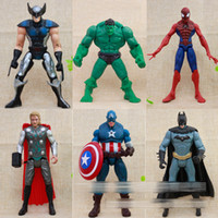 Wholesale The Avengers comic book suoerhero marvel some with light toys Spiderman Ironman batmsn Hulk PVC cm DHL