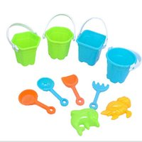 beach pails - 2016 The Newest set children hot summer beach toys children swimming beach pail car toys Play with the kids on the beach