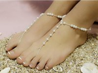 Wholesale 2016 New Bracelet Anklet Hot Selling White Pearls Jewelry Cheap In Stock ankle chains