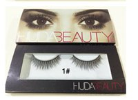 Wholesale Synthetic Hair Wholesale Prices - 2016 HUDA BEAUTY false lashes Natural INDIVIDUAL EYELASHES Thick False Eye Lashes Huda Beauty Makeup Factory Price