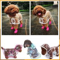 beautiful hood - Dog Clothes transparent raincoat light clothes waterproof beautiful small dog raincoat with hood