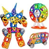 Wholesale 121Pcs Set Models Building Toy MiNI Magnetic Designer Educational Building Blocks Plastic Assemble Enlighten Bricks Toys