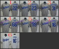 andre ethier - Los Angeles Dodgers andre ethier Baseball Cool Base Jersey Best quality Authentic Jerseys Embroidery Logo Size M XL Mix Order