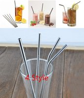 Wholesale New Stainless Steel Drinking Straws Extra Large for Shakes and Smoothies Reusable Straws Best Deal