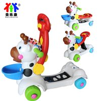 Wholesale 12 month Music Deer Baby walker Kid Scooter toys in Children s birthday gift Trolley No edges and corners