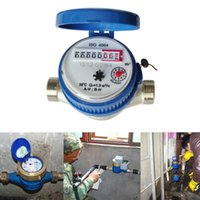 Wholesale Freely Adjustable Rotary Counter mm Cold Water Meter Garden Home Water Metering Tools With Free Fittings