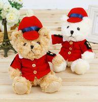 bears uniform - 22cm Teddy Bear Soft Stuffed Animals Army Uniform Teddy Bear Plush Dolls for Kids Toys Stuffed Bear Christmas Gift