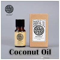 al por mayor la belleza de coco-AKZRZ Famoso Marca Pure Natural Aromaterapia Aceite de Coco Cuidado del Cabello Cuidado del Cabello Proteger los Dientes de Coco Aceite Esencial Y001