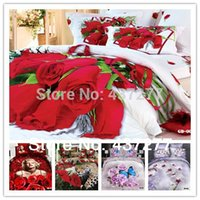 Cheap 7pc home textile flower,butterfly,Marilyn Monroe, leopard cotton bedding sets full queen king bed linens sheet set free shipping