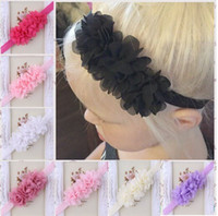 Headbands band princess - Hair band For Baby Chiffon Flower Hair Band Princess Baby Girl Candy Color Hair Band Photo props For Kids Baby Headbands Hair Accessories