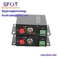 al por mayor multiplexores de vídeo-1 canal de vídeo digital de fibra óptica convertidor óptico de vídeo óptica transmisor y el receptor 1 canal multiplexor 485 Datos