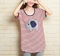 Wholesale 2016 new summer maternity T shirts plus size stripe Cotton women s T shirts pregnant t shirts maternity tees graphic tees women