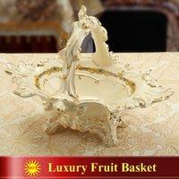 Wholesale Porcelain luxury fruit basket ivory porcelain the woman s head design outline in gold fruit basket European fruit basket decoration