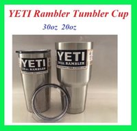 Wholesale Yeti oz Yeti oz Rambler Tumbler Cups Travel Vehicle yeti mugs Mug Double Wall Bilayer Vacuum Insulated Stainless Steel
