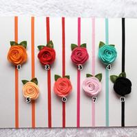 Cheap Headbands felt flower headband Best Plyester Solid baby rose flower headband