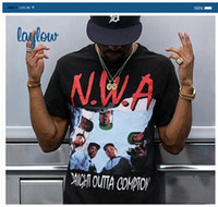 band t shirt designs - 2016 N W A Straight Outta Compton T shirt Men s Summer New Arrival Hip Hop Band Tees Fashion Design Printed Cotton Tee Shirts S XL