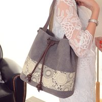 Wholesale Winter Leisure Cloth Canvas Shoulder Bag Hand Japanese Minimalist Small Fresh Handbag