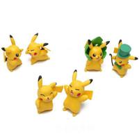 Wholesale Poke Pikachu Action Figures PVC Doll Espeon Glaceon Vaporeon Kids Figure Toys cm Stuffed Anime Cartoon Doll