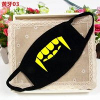 Wholesale Funny fashion adult teeth printing masks Male and female couple cotton dust masks windproof mouth muffle mouth mask mascaras