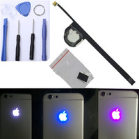 Wholesale Newest iPhone Luminescent Glowing Logo LED Light Fluorescent Lamp Backlid Logo LED Replacement for iPhone Plus s s Plus Free Tools