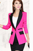 Wholesale 2016 the spring and autumn period and the han edition installs a new small suit women long sleeve coat stitching cultivate one s morality m